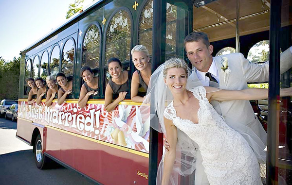 Our Trolley is perfect for weddings!